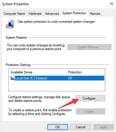 How to Turn On System Protection in Windows 10