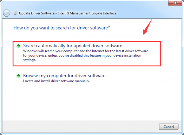 Intel Management Engine Interface Driver Code 10