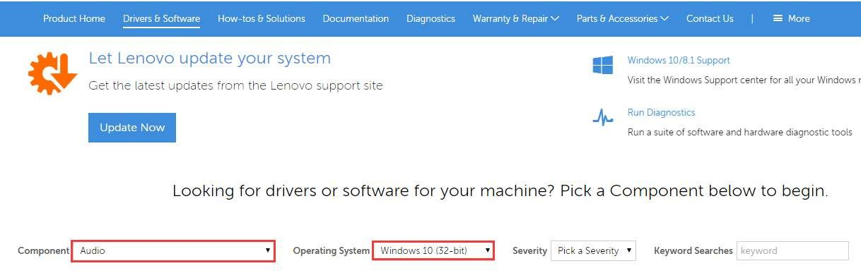 Update Lenovo Audio Drivers in Windows 10. Easily!