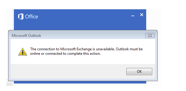 "Solved:""The connection to Microsoft Exchange is unavailable"" Outlook Error"