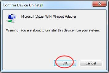 Fix Microsoft Virtual Wifi Miniport Adapter Problem on Windows 7