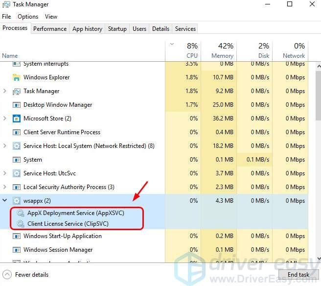 How To Fix High Disk and CPU Usage (wsappx) on Windows