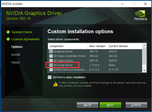 NVIDIA High Definition Audio Drivers Update in Windows 7