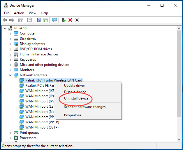 Fixed Problem with wireless adapter or access point on Windows 10