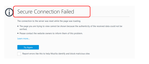 How To Fix Secure Connection Failed on Firefox