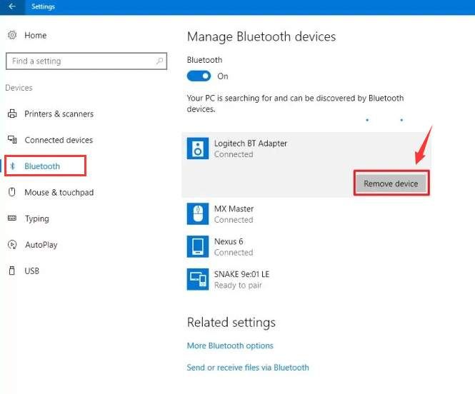 Fix Bluetooth Speakers and Display Devices Connection Problems on Windows 10